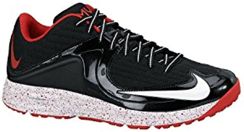 Nike Men'S Lunar MVP Pregame 2 Training Shoe, Negro/Rojo, 47.5 D(M) EU/12.5 D(M) UK