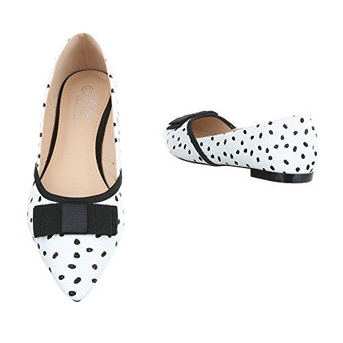 Ital-Design - Scarpe chiuse Donna bianco nero