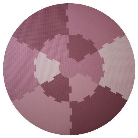 Spielmatte rosa töne