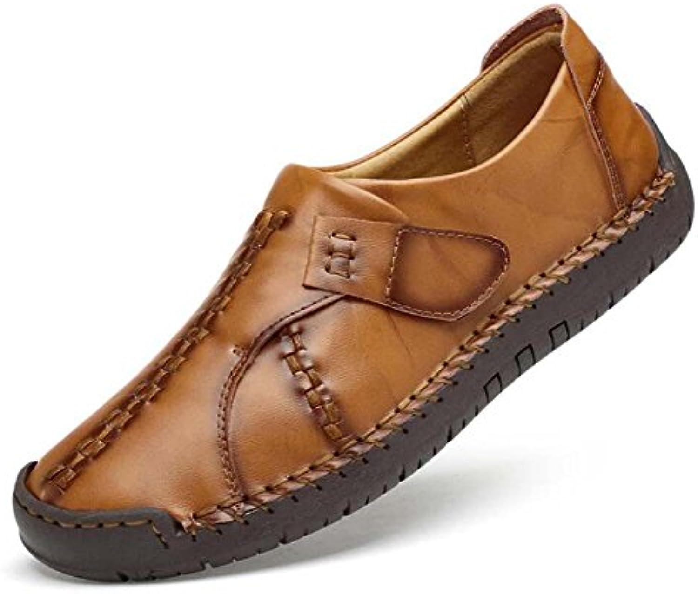 Männer Pumpe Casual Leder Schuhe Runde Kappe Reine Farbe Klett England Stil Bussiness Leder Schuhe weisshen Boden