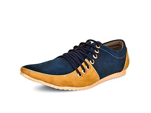 Esense 7 Lace Men's Blue And Beige Synthetic Casual Shoe (9)