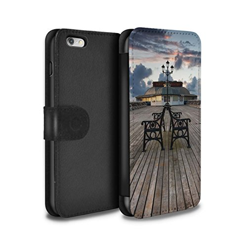 Stuff4 Coque/Etui/Housse Cuir PU Case/Cover pour Apple iPhone 6S+/Plus / Passerelle en Bois Design / Bord Mer Anglaise Collection Pavillon Théâtre