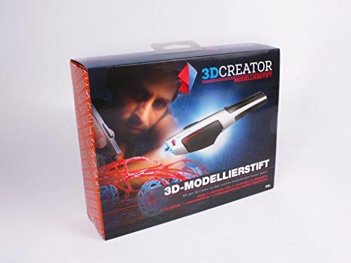 3D Stift Creator 3D Modellierstift für 3D Zeichnungen mit LED´s zur Aushärtung zur Erstellung von dreidimensionalen Zeichnungen, Kunstwerken, Modellen, Dekorationen uvm. von Hand.