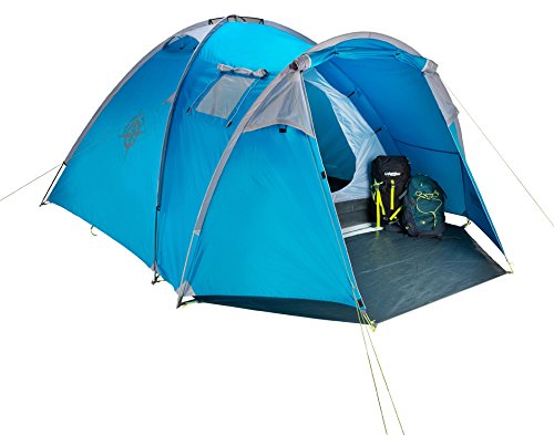 Columbus Garda Tente de camping pour 4 personnes Bleu Unique