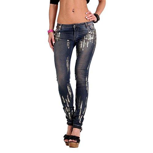 Met-Jeans da donna Super Skinny X Jessica Blue E94 Blau 33