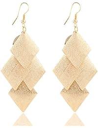 Womage Elegant Gold Color Long Tassel Drop Earrings For Women - Jewl-48