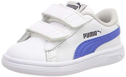 Puma Unisex Baby Smash v2 L V Inf Sneaker, Weiß (Puma White-Strong Blue-Peacoat-Gray Violet 07), 23 EU 07 Sneakers