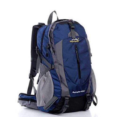 ShangYi All'aperto alpinismo borsa doppio donne spalla borse uomo sport viaggio zaino , dark blue Dark Blue