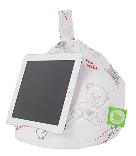 iPad, eReader & Book Mini Sitzsack von Bean Lazy passt für alle Tablets und eReaders–Teddy Bear