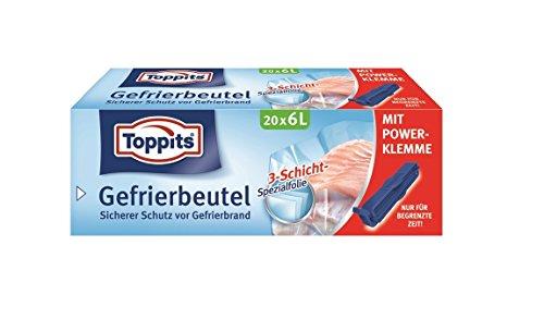 Toppits Gefrier Beutel 6L Vorteilspack (45 Beutel)