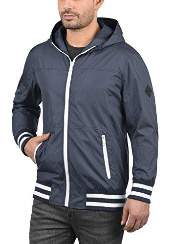BLEND Novan Herren Übergangsjacke Jacke mit Kapuze aus winddichter und hochwertiger Materialqualität Mood Indigo (74648)