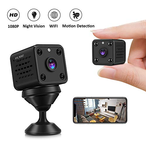 Mini Kameras - 1080P CUSFLYX WiFi HD Überwachung Kamera Motion Detection Auto IR Nacht Version Nanny Security Kamera Monitor 160° Wide Angle für IOS/Android