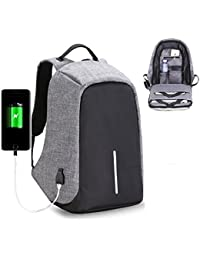 Anti Theft Causal Backpack USB Charging Port Laptop Bag School College Office Bag For Storage/Notebook Books/Tablet...