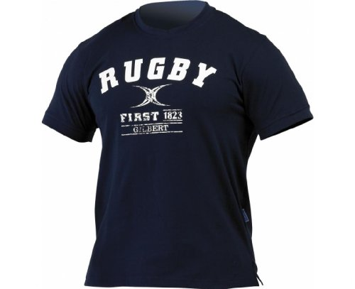 GILBERT Rugby First T-Shirt, Marineblau, L
