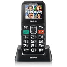 Brondi Amico Sicuro + Telefono Cellulare, Nero