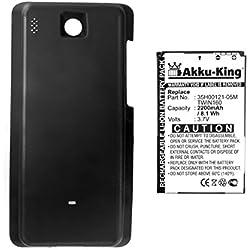 Akku-King Batterie pour HTC Hero, Hero 100, Hero 130, T-Mobile G2 Touch - Li-Ion remplace BA S380, TWIN160 - FAT 2200mAh