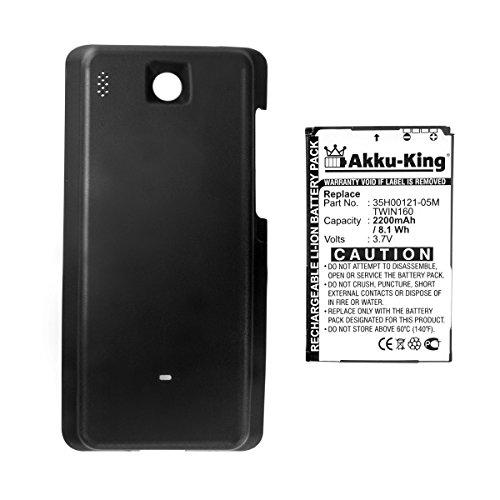 Akku-King Akku für HTC Hero, Hero 100, Hero 130, T-Mobile G2 Touch - ersetzt BA S380, TWIN160 - Li-Ion 2200mAh