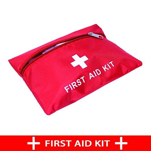 Lydreewam Outdoor Erste-Hilfe-Kit Verbandkasten Home Medizinpaket Selbstverteidigung Erdbeben Notfallbox Feld Medizinisches Paket(Rot)