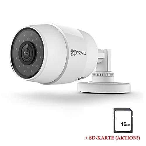 LEICKE EZVIZ C3C HD Outdoor WiFi/LAN Kamera | Überwachungskamera | Tag- und Nachtsicht | Mit Bewegungssensor | Wetterfest IP66