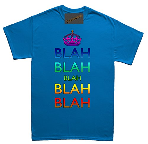 Renowned Blah Blah Blah Blah Blah Herren T Shirt Blau