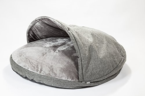 "Collared Creatures Dog Cave Bed, Dog Bed, Extra Large 114cm (45"") Grey 3"