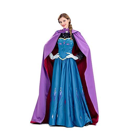 Kostüm Womens Frozen - HYMZP Kostüm Damen, Halloween Adult Cosplay Kostüm Woman Frozen Aisha, Karneval Stage Performance Sexy Dress,L