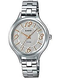 b2aa55e41492 Casio Ltp-1393d-7a3vdf Reloj Analogico Para Mujer Caja De Laton Esfera  Color Plateado