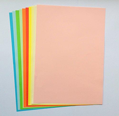 farbpapier 50 Blatt Farbpapier (10 x 5 Blatt) A4 80g/qm 10 Trendfarben zu je 5 Blatt sortiert
