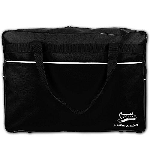 Reisetasche 44 Liter - Handgepäck - Bordcase - Bordgepäck - Handtasche - Reisetasche Flugzeug mit Farbauswahl (Schwarz) Schwarz