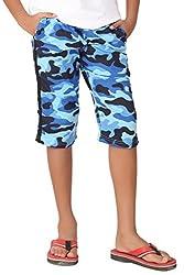 Clifton Boys Army Capri -Light Blue-XL
