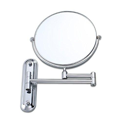 SIKER espejo de belleza espejo completo de cobre de pared espejo de vanidad plegable cuarto de baño giratorio tres veces ampliado espejo de maquillaje de ocho pulgadas