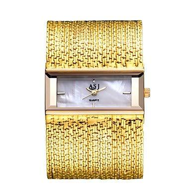 XKC-watches Herrenuhren, Damen Uhr Kleideruhr Japanischer Quartz Kupfer Silber/Gold Armbanduhren für den Alltag Analog Elegant Silber/schwarz Silbrig/White Weiß/Gold/EIN Jahr/EIN Jahr