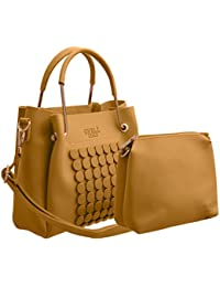 TAP FASHION Stylish PU Leather Women's 2Pcs (2in1 Combo Bag) Combo Of Handbag, Sling Bag For Ladies And Girls.