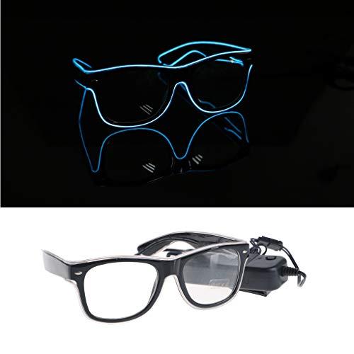 Meatyhjk EL Drahtbrille, leuchtet kühle Brille LED Leuchtbrille Party Brille für Kinder Party Club Bühne Disco a