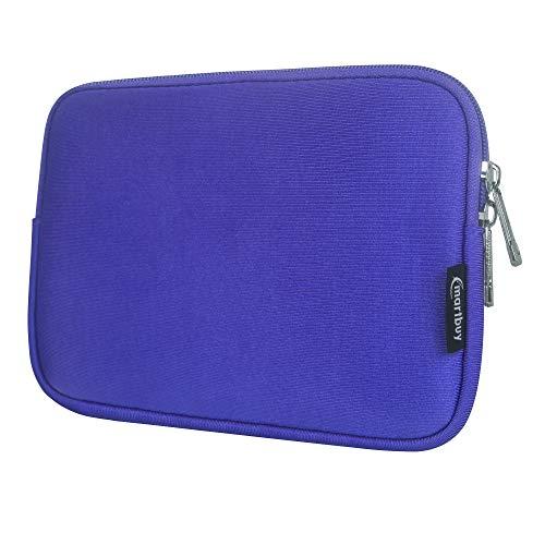 Emartbuy Laptop Neoprene Sleeve case with Zip for Datawind UbiSlate 9Ci (Purple Plain - 8 Inch)