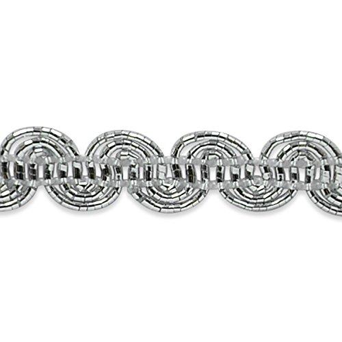 Metallic Scroll (Expo International Pia Metallic Scroll Braid Trim Embellishment, 20-Yard, Silver)