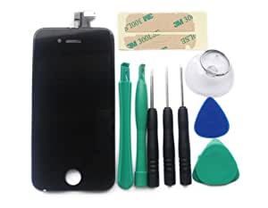 iphone 4 display schwarz profi reparatur werkzeug set. Black Bedroom Furniture Sets. Home Design Ideas