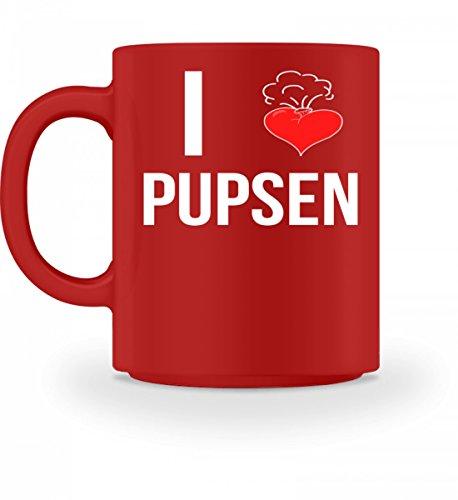 Shirtee Lustiges Furz Herz Ich liebe Pupsen Toilettenhumor Geschenk – Tasse