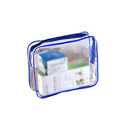 Demarkt 1pcs Sac de Voyage en PVC Trousse de Toilette Transparente Kit de Voyage pour l'Avion,Set de Voyage dans Bagages à Main, Sac Cosmétiques pour Hommes et Femmes 24 * 5 * 20cm