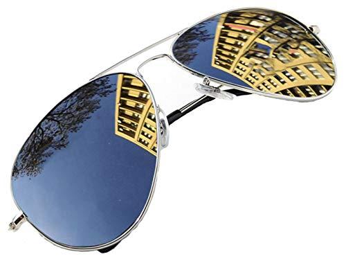 4sold Sonnenbrille in vielen Farbkombinationen Klassische Brille Unisex Sonnenbrille (Silber)