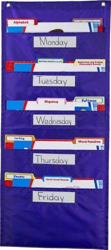 File Folder Storage: Purple Pocket Chart Storage (Pocket Storage Chart)