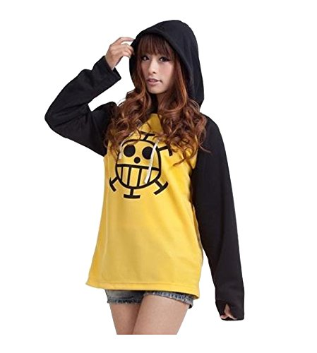 One Piece Law Hoodie Trafalgar Law Pullover Anime Kapuzenjacke Größe M