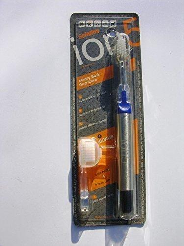 Blau Soladey Ion5 Hell Aktiviert Ionisch Zahnbürste mit Weiche Kopf, Ersatz Leiter und Leiter Schoner Tragetasche