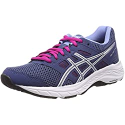 Asics Gel-Contend 5, Zapatillas de Running para Mujer, Azul (Grand Shark/White 401), 39 EU