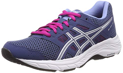 ASICS Damen Gel-Contend 5 Laufschuhe Blau (Grand Shark/White 401) 38 EU