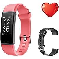 Bracelet de suivi d'activité Letscom avec moniteur de fréquence cardiaque, étanchéité IP67 et podomètre pour enfant, homme et femme, bracelet de rechange inclus