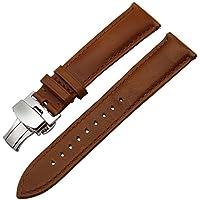 TRUMiRR 18mm Cinturino in alluminio per farfalla a fascia di orologio in vera gola per Huawei Watch 1st/Fit Honor S1, Asus Zenwatch 2 Women 1.45'' WI502Q, Withings Activite/Pop/Steel HR 36mm