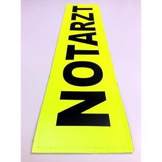 NOTARZT 3M Rückenschild 42x8cm Zitronengelb