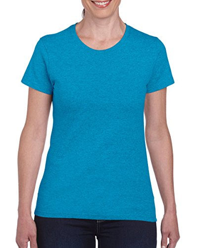 Gildan Ladies Missy Fit T-Shirt schwere Baumwolle - Heather Sapphire
