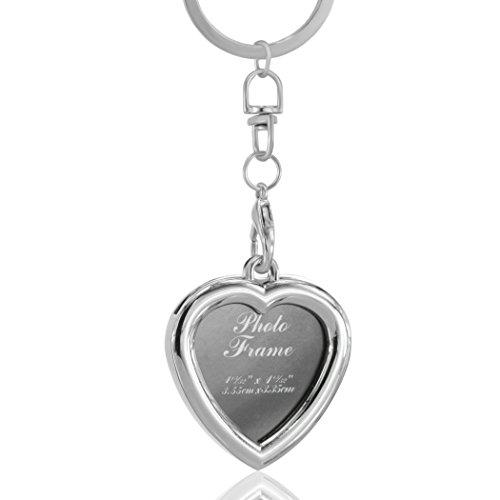 Cornice portafoto a forma di cuore, con catena portachiavi Portachiavi con cornice per foto, in (Portachiavi Portafoto)
